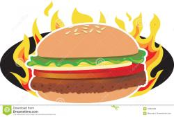 Hamburger clipart grilled