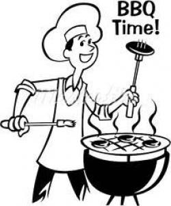 Barbecue Sauce clipart black and white