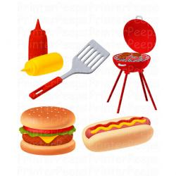 Barbecue clipart hamburger hotdog