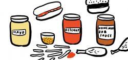 Ketchup clipart condiment