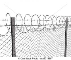 Barbed Wire clipart metal fence