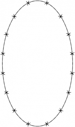 Barbed Wire clipart oval
