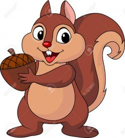 Chipmunk clipart red squirrel