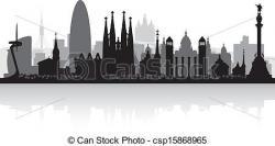 Barcelona clipart Barcelona Skyline