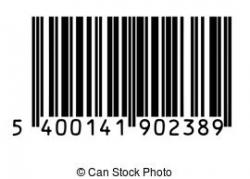Barcode clipart black and white