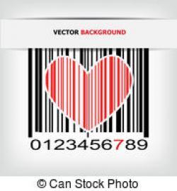 Barcode clipart heart