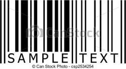 Barcode clipart vector
