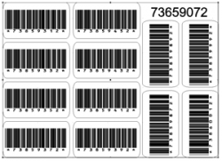 Barcode clipart vertical