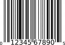 Barcode clipart white background