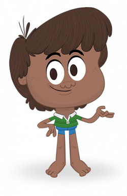 Barefoot clipart brown hair boy
