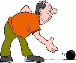 Bowling clipart senior