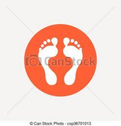 Barefoot clipart human footprint