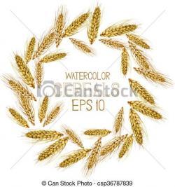 Barley clipart wreath