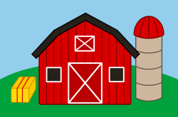 Farmland clipart farm scene