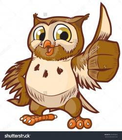 Barred Owl clipart happy
