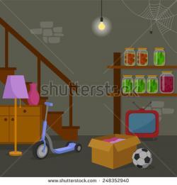 Room clipart basement