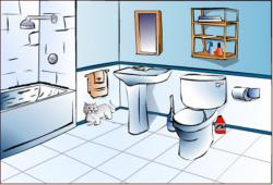 Design clipart bathroom