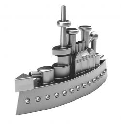 Battleship clipart piece