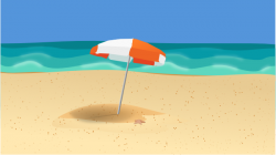 Sandy Beach clipart beach scene