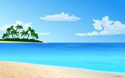 Eiland clipart sunny day beach