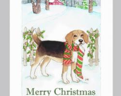 Beagle clipart christmas