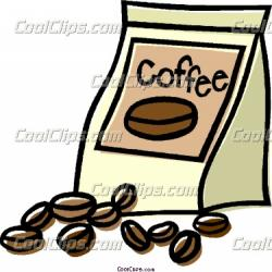 Beans clipart coffee bean bag