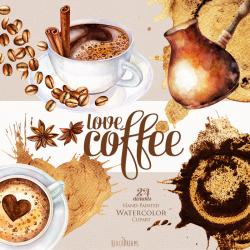 Cappuccino clipart coffee love