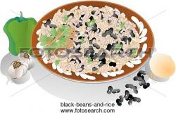 Bean clipart rice and bean