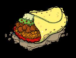 Kebab clipart burrito