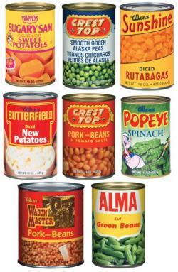 Lima Beans clipart tin bean