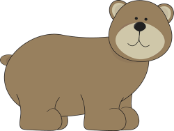 Cute clipart grizzly bear