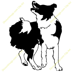 Rough Collie clipart tribal