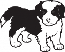 Rough Collie clipart cute