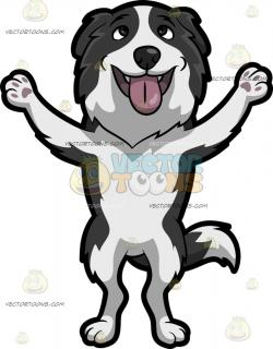 Collie clipart cartoon