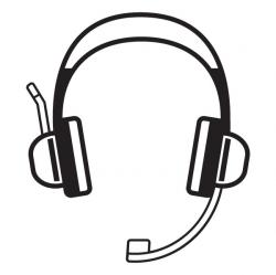 Headphone clipart outline