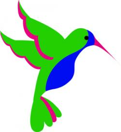 Colorful clipart hummingbird