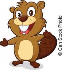 Beaver clipart happy