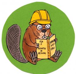 Beaver clipart reading