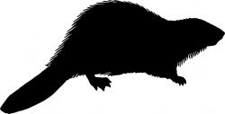 Beaver clipart silhouette