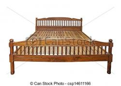 Bench clipart wooden bed