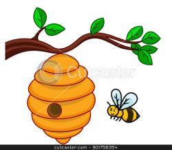 Bee Hive clipart honey bee