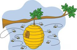 Bee Hive clipart tree clip art
