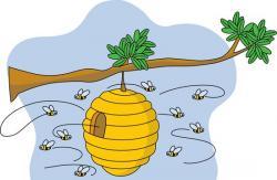 Bee Hive clipart tree clip art