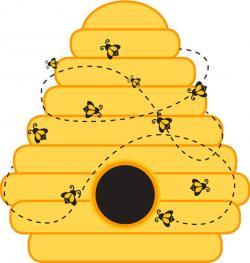 Honeycomb clipart bee nest