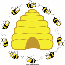 Honeycomb clipart bee house