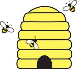 Bees clipart bee honeycomb