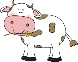 Cattle clipart cute cow