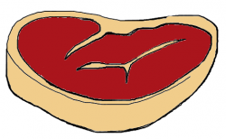 Drawn steak cartoon