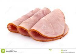 Pork clipart sliced ham