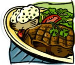 Meatloaf clipart steak dinner